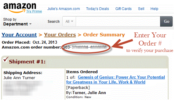 AMAZON ORDER # GRAPHICFULL